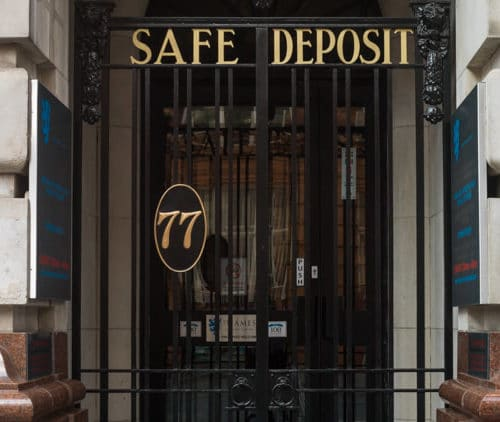 St James' Safe Deposit Manchester Entrance