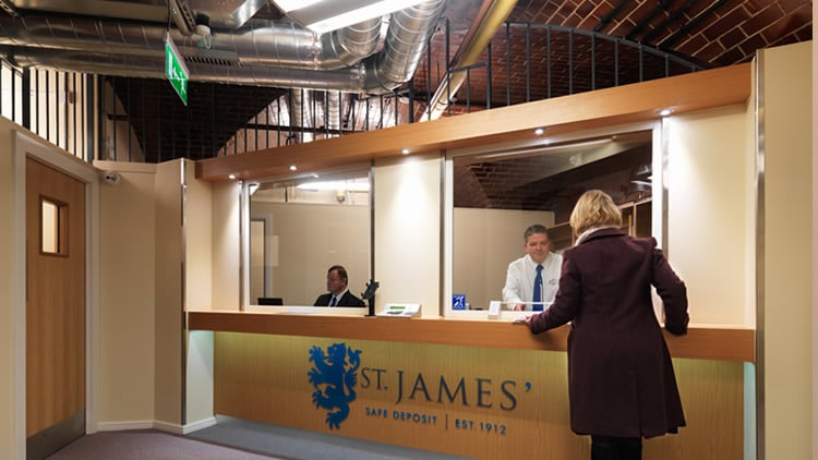 St James' Safe Deposit Leeds Reception